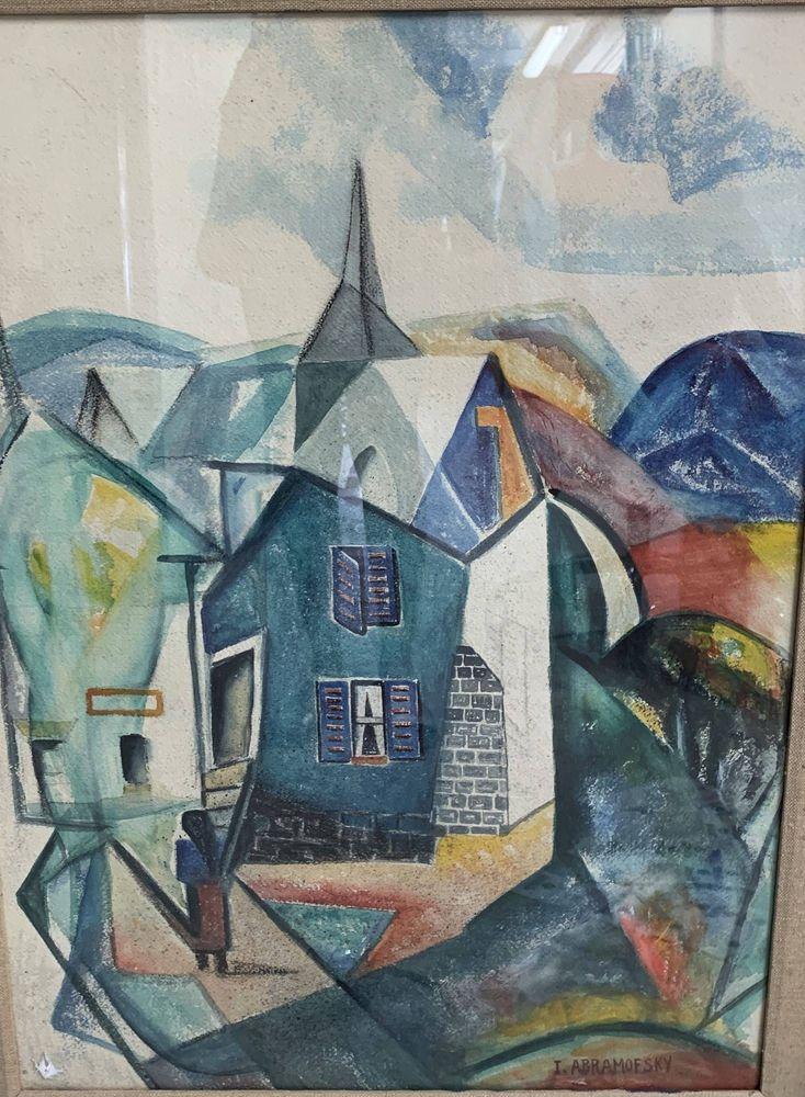 ISRAEL ABRAMOFSKY (1888-1975), The artist's home signed 'I Abramofsky' (lower [...]