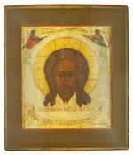AN ICON «THE HOLY MANDYLION», Vladimir Region, mid-XIX c Wood, gesso, gold leaf, [...]