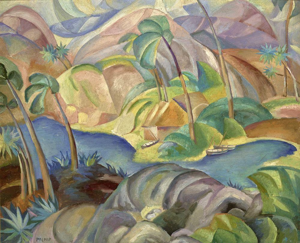 VICTOR PALMOV (1888–1929), Japanese landscape signed 'Palmov' (lower left) oil [...]