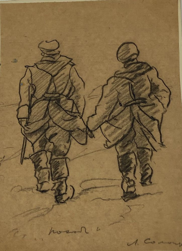 LEONID ROMANOVITCH SOLOGUB (1884-1956), Portrait of lieutenant colonel, deathbed [...] - Image 8 of 8
