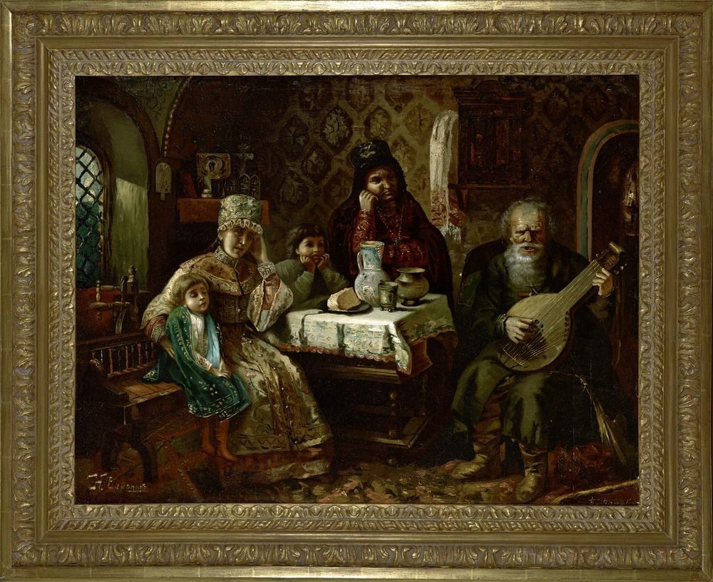 NIKOLAI VORONIN, AFTER KONSTANTIN MAKOVSKY (1839-1915), Portrait a domra [...] - Image 2 of 2