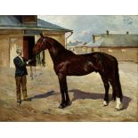NIKOLAI SEMENOVICH SAMOKISH (1860-1944), Portrait of Lel, a racing stallion Signed in [...]