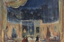 YURI PIMENOV (1903-1977), Marguerita's reception room. Stage design for The Lady [...]