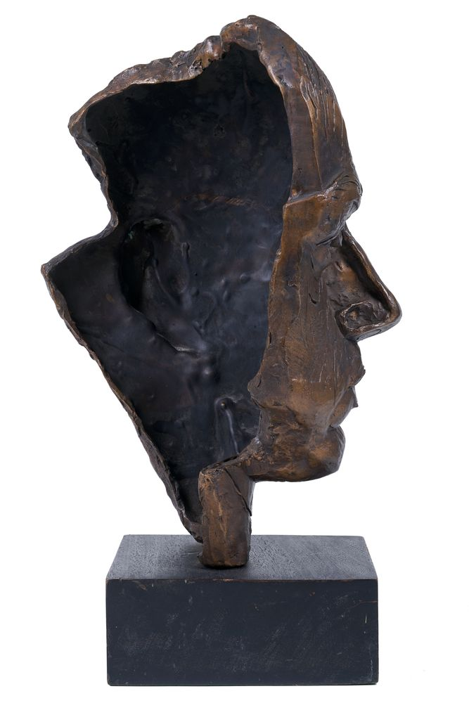 GEORGE ANNENKOV (1889-1974), Bust (Self-portrait) signed with initials, inscribed and [...] - Image 2 of 3