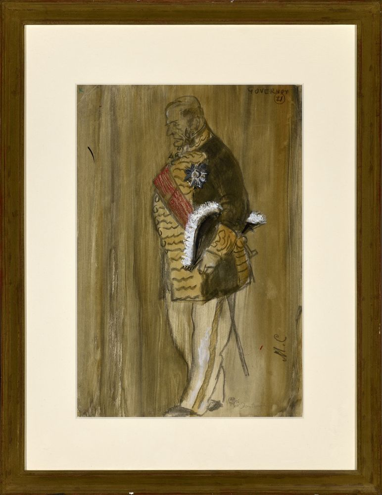 MSTISLAV DOBUZHINSKY (1875-1957), Costume Design for Governor signed with initisals [...] - Image 2 of 2