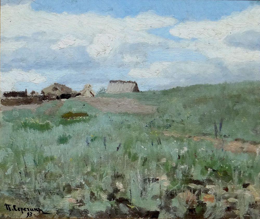 PORFIRY SEREGIN (1868- 1923), Zayachy khutor signed and dated '93' oil on [...]