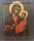 AN ICON «OUR LADY HODEGETRIA», Russia, early XVIII c. with renovation of the XIXth [...]