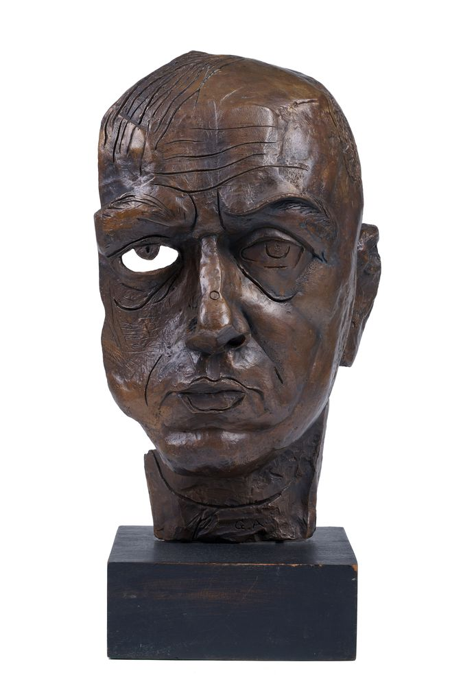 GEORGE ANNENKOV (1889-1974), Bust (Self-portrait) signed with initials, inscribed and [...]