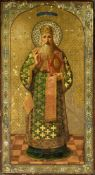 AN ICON «SAINT PETER, METROPOLITAN OF KIEV AND ALL RUSSIA», Central Russia, late [...]