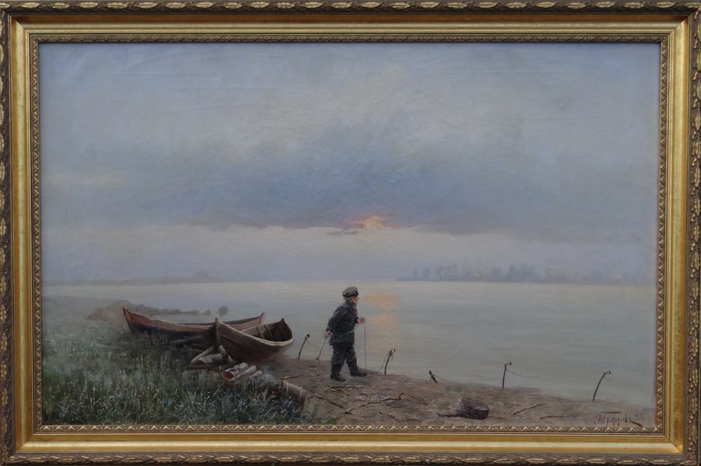 ALEXEI MATVEEVICH PROKOFIEV (1859-1925), The Young Fisherman signed in Cyrillic and [...] - Image 2 of 2