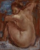SERGEY MAKO (1885-1953), Seated Nude sigend 'S Mako' (lower left) Oil on [...]