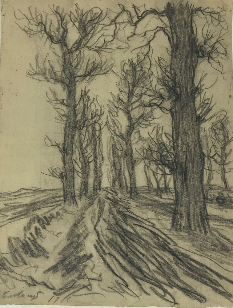 LEONID ROMANOVITCH SOLOGUB (1884-1956), Soldiers gathering next to the wheel, trees [...] - Image 2 of 7