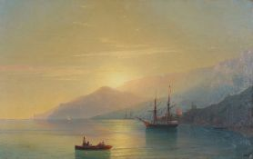 IVAN AIVAZOVSKY (1817-1900), The Turkish Coast at Sunset signed in Cyrillic and dated [...]