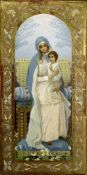 MIKHAIL NESTEROV (1862-1942), Virgin and a Child oil on panel 44.6 x 22.1 [...]