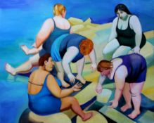 TATYANA NAZARENKO, Catching seashells oil on canvas 80 x 100 cm All lots marked with [...]