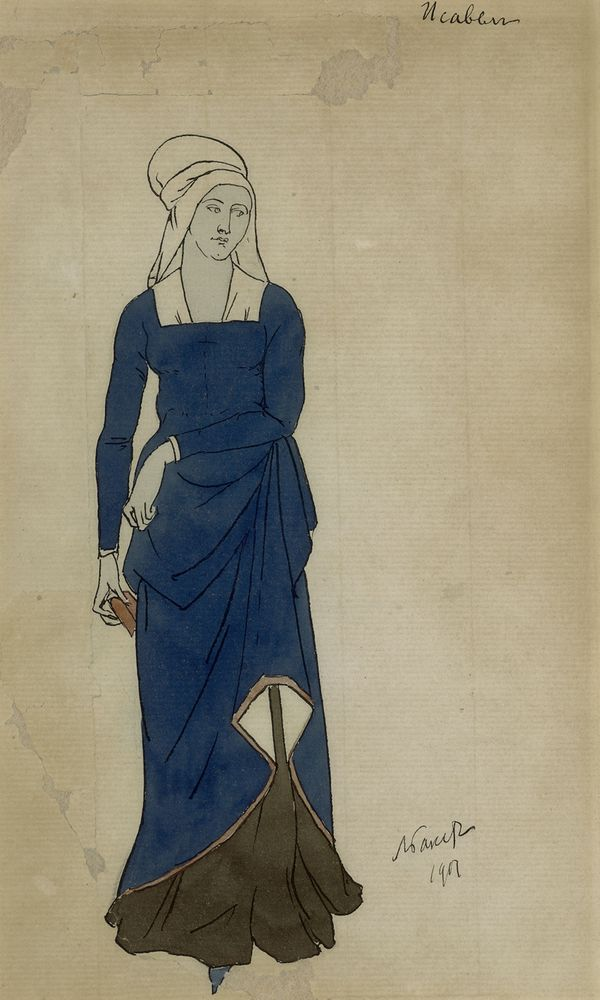 LEON BAKST (1866-1924), Costume design for Don Juan. Isabelle signed and dated 1901 [...]