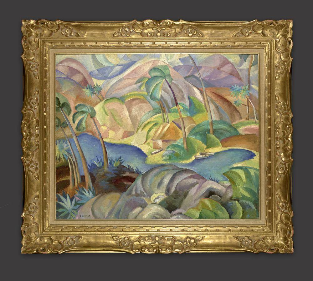 VICTOR PALMOV (1888–1929), Japanese landscape signed 'Palmov' (lower left) oil [...] - Image 2 of 2