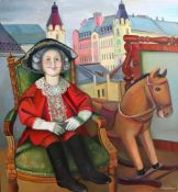 TATYANA NAZARENKO, Doll signed in Cyrillic 'T Nazarenko' (lower right) oil on [...]