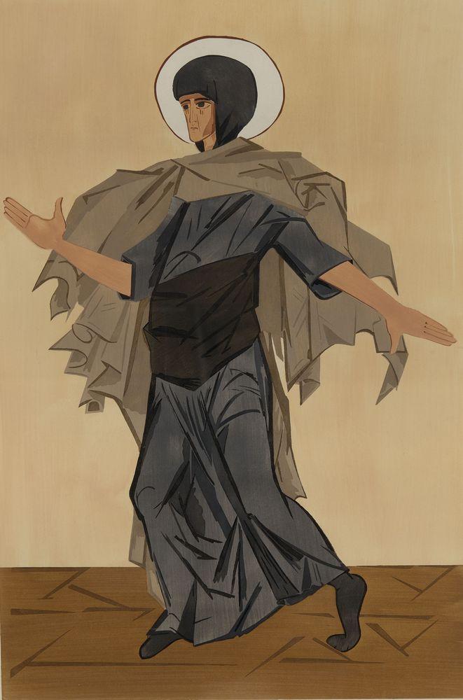 NATALIA GONCHAROVA (1881-1962), Design for the costume of St Anne for Leonid [...]