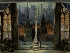 ALEXANDRE BENOIS (1870-1960), Stage design for Jeanne d'Arc at La Scala signed [...]