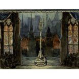 ALEXANDRE BENOIS (1870-1960), Stage design for Jeanne d'Arc at La Scala signed [...]