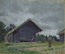 SERGEY VINOGRADOV (1869-1938), Homestead signed in Cyrillic (lower left) oil on [...]