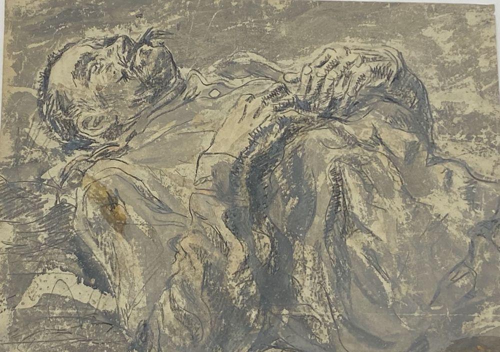 LEONID ROMANOVITCH SOLOGUB (1884-1956), Portrait of lieutenant colonel, deathbed [...] - Image 3 of 8