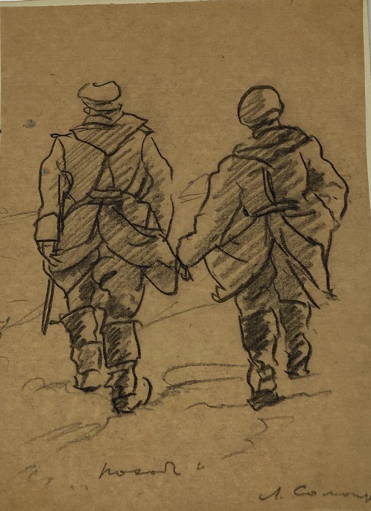 LEONID ROMANOVITCH SOLOGUB (1884-1956), Portrait of lieutenant colonel, deathbed [...] - Image 7 of 8