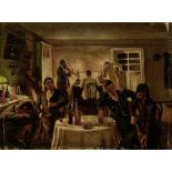ALEXANDR INNOKENTIEVICH CHIRKOV (1865-1913), Night gatherings signed in Cyrillic [...]