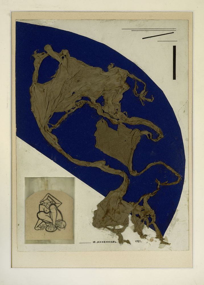 GEORGE ANNENKOV (1889-1974), Collage au Singe signed in Cyrillic and dated '1921' [...]