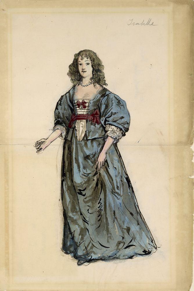 ALEXANDRE BENOIS (1870-1960), Isabelle inscribed 'Isabelle' (upper [...]