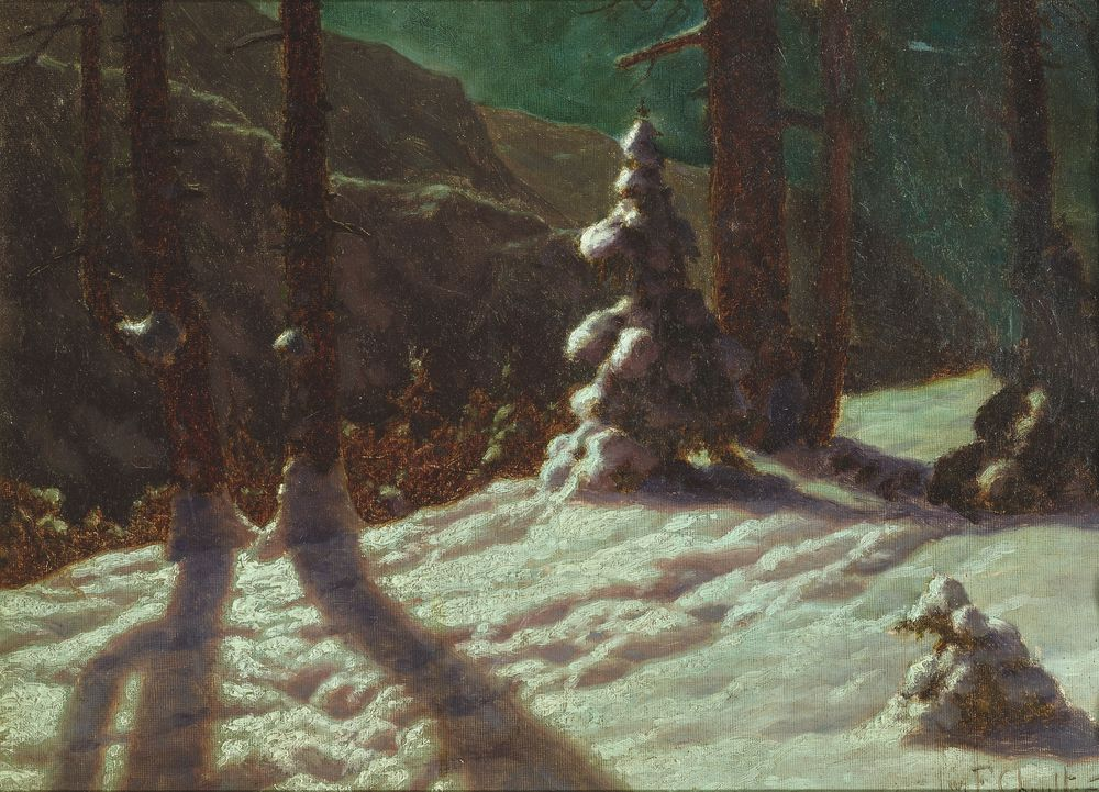 IVAN FEDOROVICH CHOULTSE (1874 - 1939), Winter in the forest signed and dated 'Iw F [...]