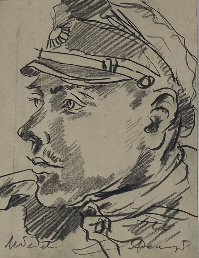 LEONID ROMANOVITCH SOLOGUB (1884-1956), Portrait of the solder (identified as [...] - Image 2 of 5