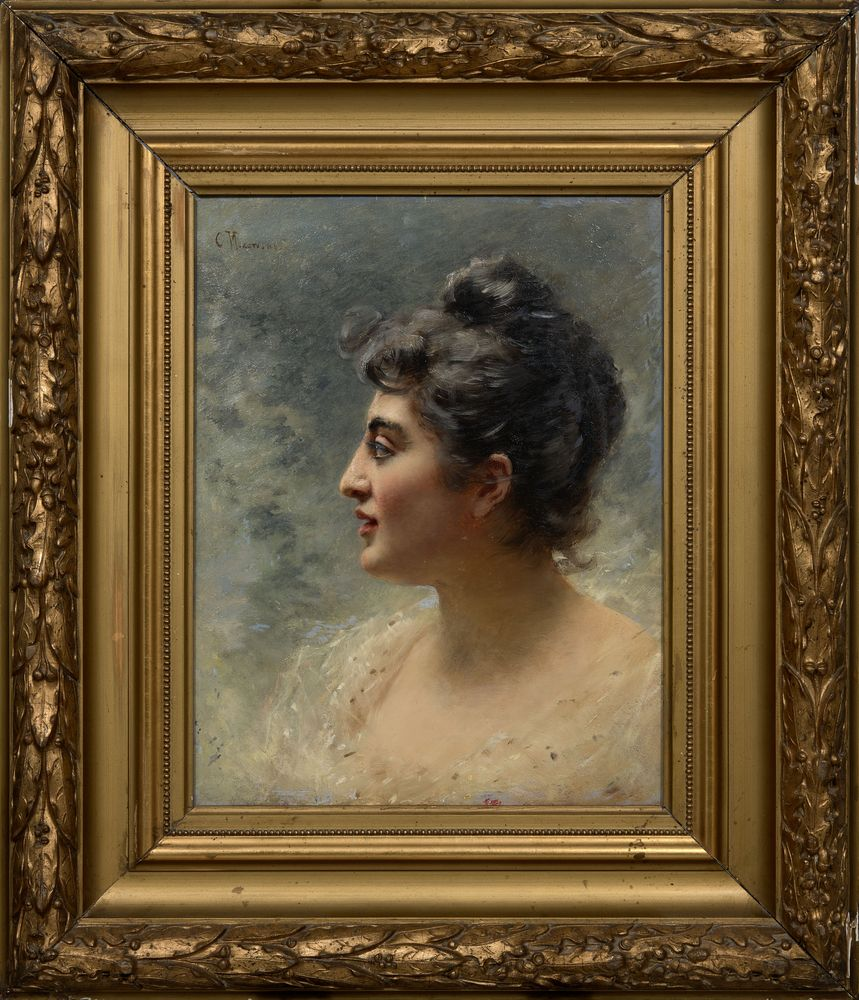 KONSTANTIN MAKOVSKY (1839-1915), A woman's head signed 'C Makowski' (upper [...] - Image 2 of 3