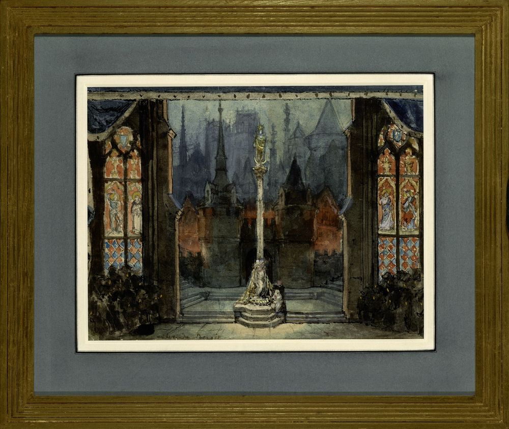 ALEXANDRE BENOIS (1870-1960), Stage design for Jeanne d'Arc at La Scala signed [...] - Image 2 of 2