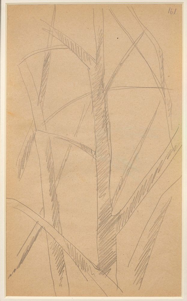 LYUBOV POPOVA (1889-1924), Two Studies of Trees annotated with numbers '161' and [...] - Image 3 of 3