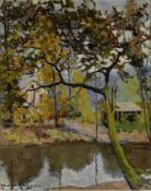 ALEXANDER ALTMANN (1878-1934), Landscape with a river signed 'Alexandre Altmann' [...]