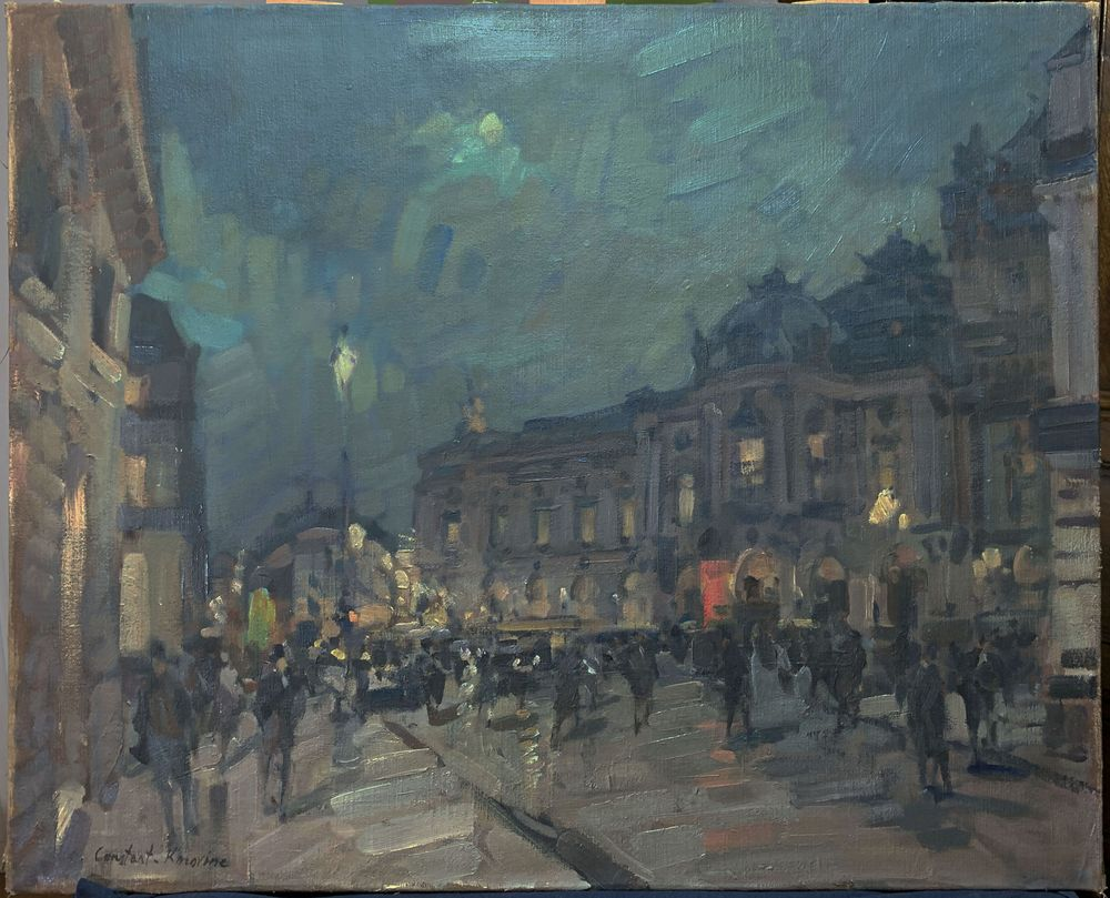 KONSTANTIN KOROVIN (1861-1939), Paris at night signed 'Constant. Korovine' (lower [...]