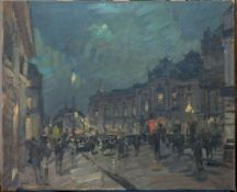 KONSTANTIN KOROVIN (1861-1939), Paris at night signed 'Constant. Korovine' (lower [...]