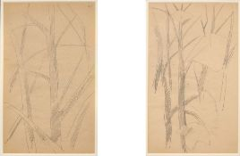 LYUBOV POPOVA (1889-1924), Two Studies of Trees annotated with numbers '161' and [...]