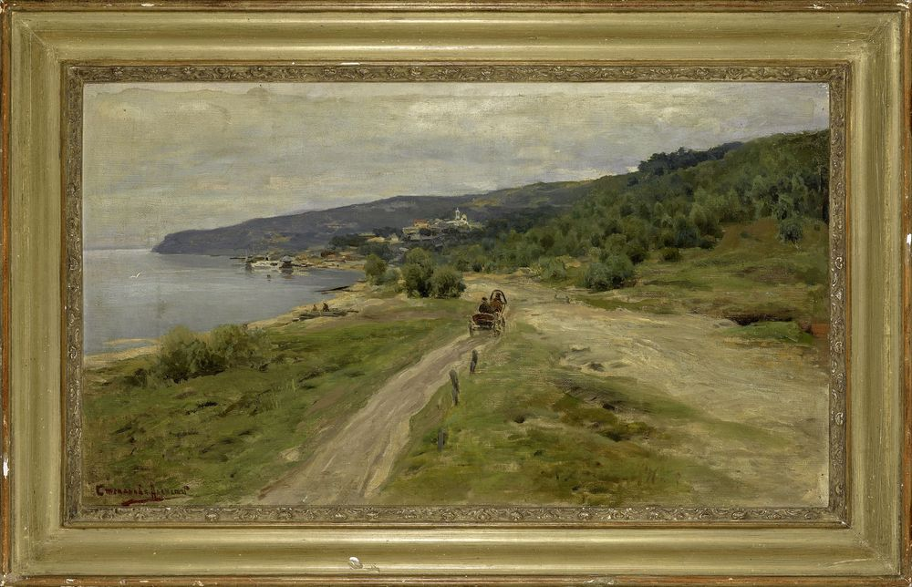 ALEXEI STEPANOV, Coastal road on the Black sea signed in Cyrillic (lower left) oil on [...] - Image 2 of 2