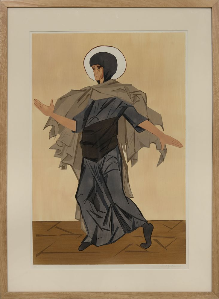 NATALIA GONCHAROVA (1881-1962), Design for the costume of St Anne for Leonid [...] - Image 2 of 2
