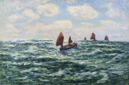 HENRY MORET (1856 – 1913) - Bateaux de pêche, Audierne Signed and dated 'Henry [...]