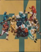 LOU FECK (1925-1981) - American Football Gouache on board 44 x 34 cm Executed circa [...]