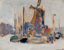 KEES VAN DONGEN (1877-1968) - Bateaux à quai (Boats at dock) Signed 'K. Van [...]