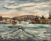 ACHILLE-ÉMILE OTHON FRIESZ (1879–1949) - Port de Cherbourg Signed and dated 'E [...]