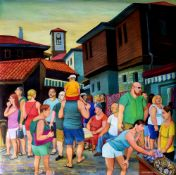 TATYANA NAZARENKO - Evening in Nessebar Signed (lower right) Oil on canvas 100 х [...]
