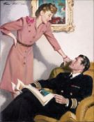 PRUETT CARTER (1891-1955) - Pilot with a magazine Signed (upper left) Oil on [...]