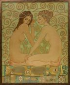 ART DECO. PARIS SCHOOL, STYLE OF GEORGE BARBIER - Oil on canvas 81 x 65 cm - Prix de [...]