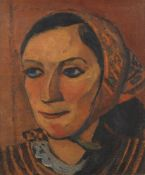 ABRAHAM P HANKINS (1903-1963) - Portrait of a Woman Signed 'A P Hopkins' (upper [...]